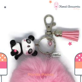Panda Panda Pompon - Kawaii tashanger / kawaii sleutelhanger