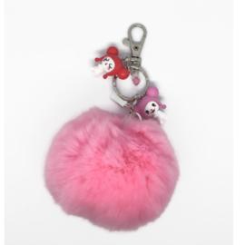 Bunny Hop Pompon - Kawaii tashanger / sleutelhanger