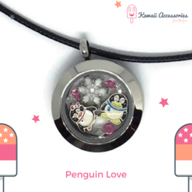 Penguin Love Locket - Kawaii ketting