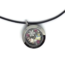Penguin Love Locket - Kawaii necklace