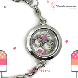 Penguin Love Locket - armband