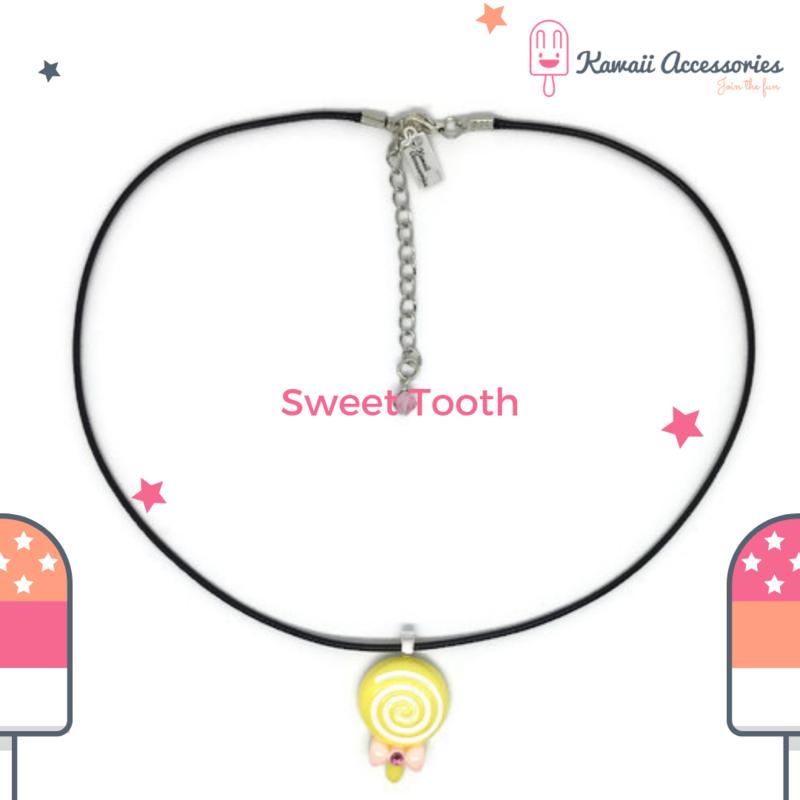 Sweet Tooth Lollipop - Kawaii ketting