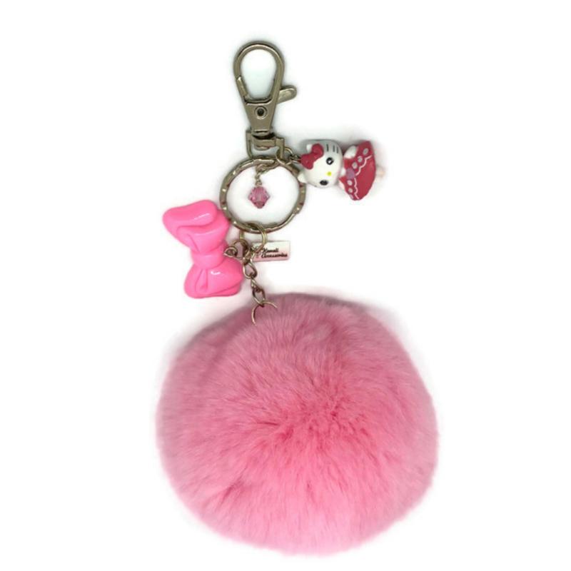 Hello Kitty Blush Pompon - Kawaii bagchain / kawaii keychain