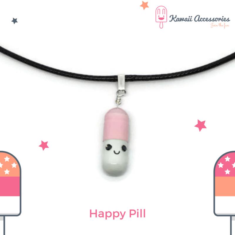Happy Pill - Kawaii ketting