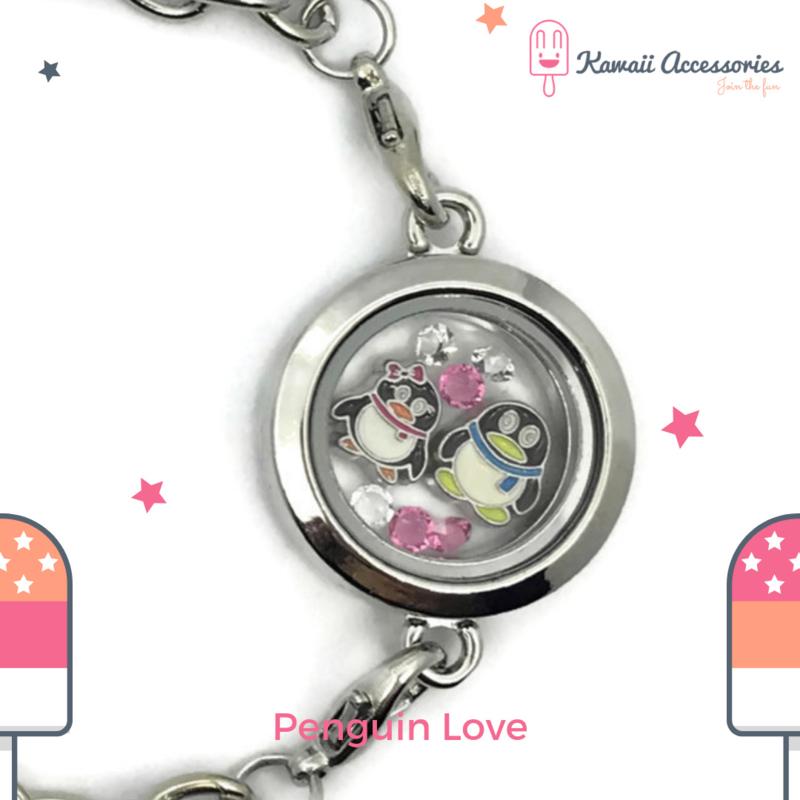 Penguin Love Locket - armband