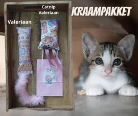 Cadeauset voor kraamvisite kattenliefhebber (roze)