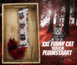 Snuffelzak Gym XXL Funny cat pluimstaart (geur naar wens)