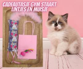 Cadeauset Kitten Roze (gevuld met catnip en valeriaan)