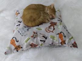 SnuffelKUSSEN Blije kat  Bruin (gevuld naar wens)