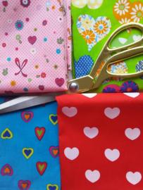 Snuffelzakjes XXL Vrolijke hartjes + gratis mini (gevuld naar wens)