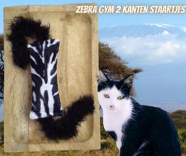 Snuffelzakje gym Zebra met dubbele staarten (gevuld naar wens)