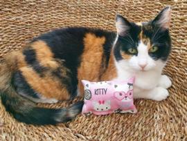 Snuffelzakje Kitty (Geur naar wens + knisper & belletje)