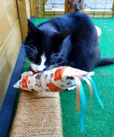 Snuffelzak Gym XXL Smart cat  met lintjes (gevuld naar wens)