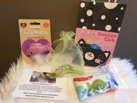 Cadeautas  voor kat- thema vis