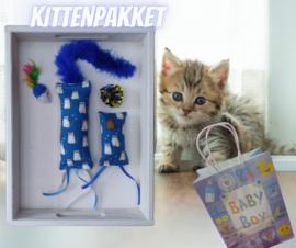 Kittenpakket Baby Boy (gevuld met catnip/ valeriaan)