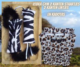 Snuffelzakjeset  Zebra met dubbele staarten en lintjes (gevuld naar wens)