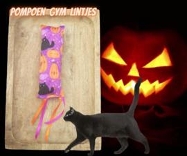 Snuffelzakje gym Halloween Pompoen met lintjes (gevuld naar wens)