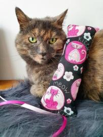 Snuffelzakje gym Kitty met lintjes (gevuld met catnip én valeriaan)