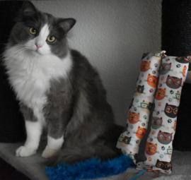 2 delige set Snuffelzak Gym XXL Smart cat met staart en lintjes (gevuld naar wens)