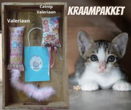 Cadeauset voor kraamvisite kattenliefhebber (blauw)