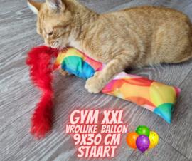 Snuffelzak Gym XXL Vrolijke ballon met staart (geur naar wens)