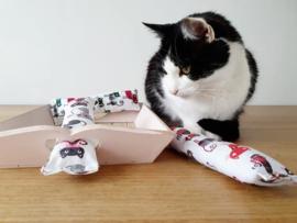 Snuffelzakje Gym Kattenkop 3 stuks (catnip)