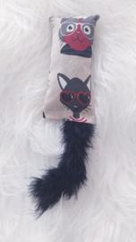 Snuffelzakje Funny cat met staart (gevuld naar wens)