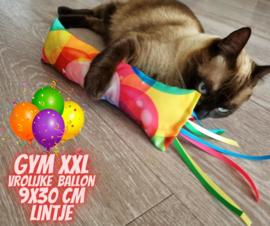 Snuffelzak Gym XXL Vrolijke ballon met lintjes (geur naar wens)
