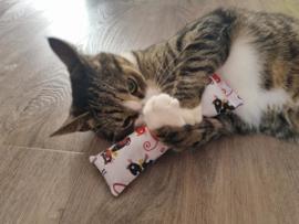 Snuffelzakje Gym Kattenkop rood (catnip)