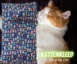 Kattenkleed Blueberry (28x48)+ bijpassend speel/ slaapkussen (18x12)