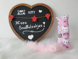 Snuffelzakje gym Kitty met staart (gevuld naar wens)