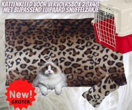 kattenkleed 28x48 + bijpassend snuffelzakje Luipaard