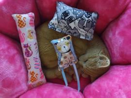 Snuffelzakjes set Fanatieke kat  catnip, valeriaan en catnip én valeriaan (3 snuffelzakjes)