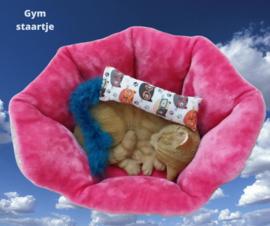 Snuffelzakje gym Smart cat met blauwe staart (gevuld met catnip én valeriaan)