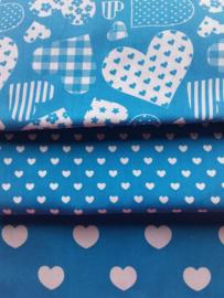 Snuffelzakjes XXL Blauwe hartjes + gratis mini (gevuld naar wens)