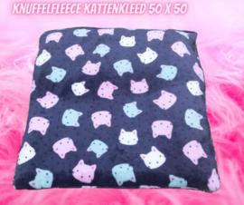 Kattenkleed Knuffelfleece 50x50 (catnip én valeriaan