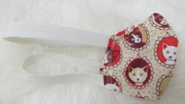 HIP mondkapje rode Kattenprint