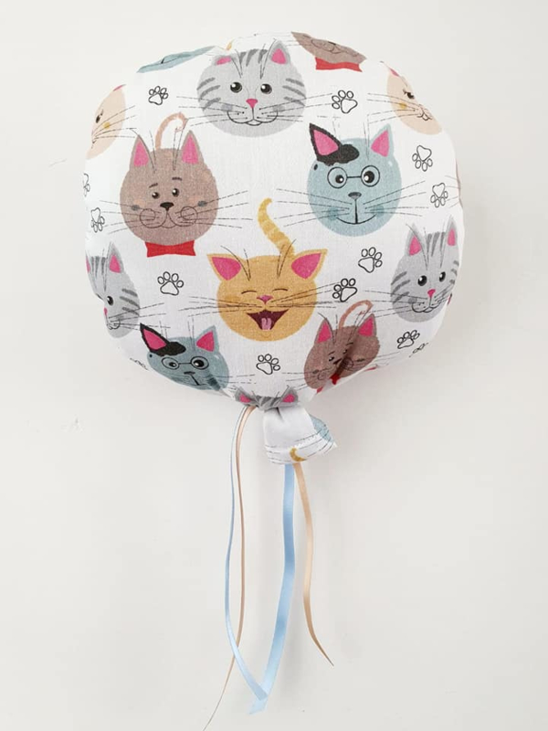 Snuffelballon Happy Faces met lintjes Geur naar wens (20 cm rond)