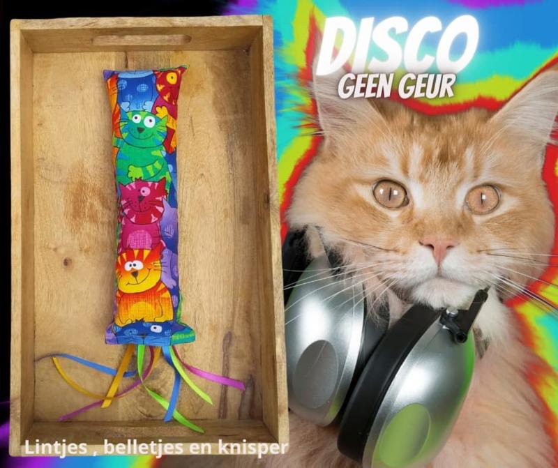 Snuffelzak Gym XXL Disco lintjes, knisper en lintjes (GEEN GEUR)