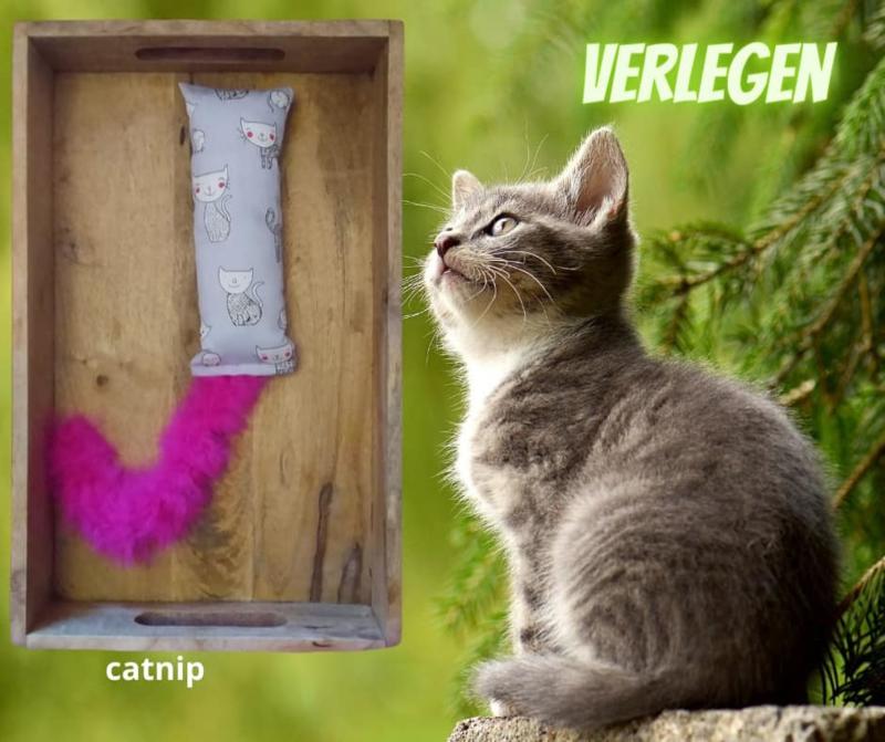 Snuffelzakje gym Verlegen roze staart (gevuld met catnip)