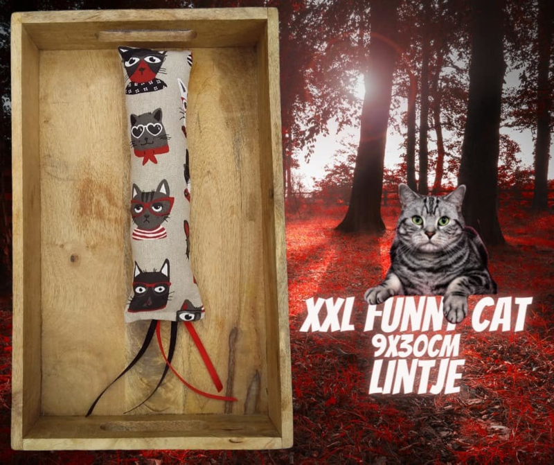 Snuffelzak Gym XXL Funny cat met lintjes (geur naar wens)