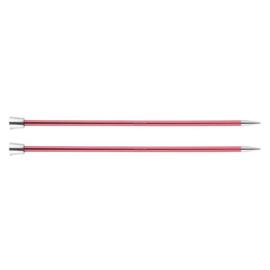 KnitPro Zing Breinaalden met knop 40cm 6.50 mm