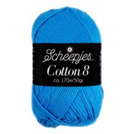 Cotton 8 563 Blauw