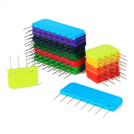 KnitPro Knitblockers doosje met 20 blockers regenboog