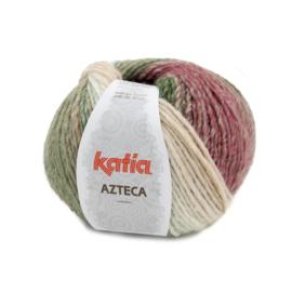 Katia Azteca 7875 - Ecru-Groen-Bleekrood-Bruin
