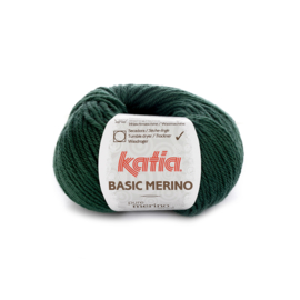 Katia Basic Merino 15 - Zeer donker groen