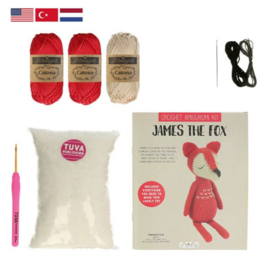 James the Fox Tuva haakpakket amigurumi