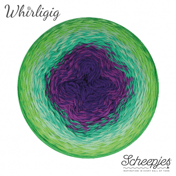 Scheepjes Whirligig Green to Purple-208