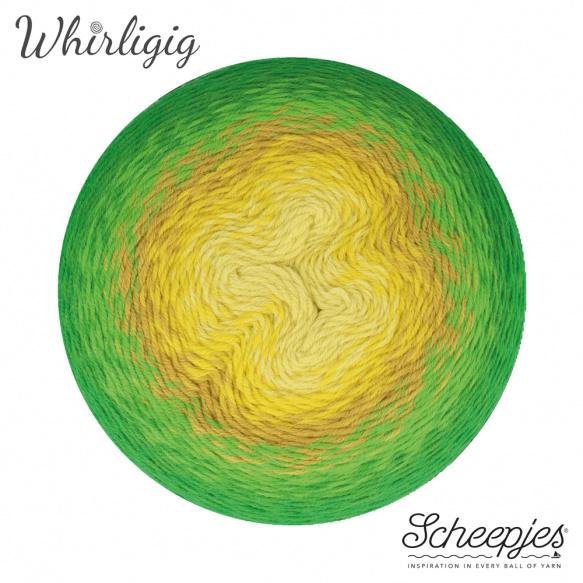 Scheepjes Whirligig Green to Ochre-206