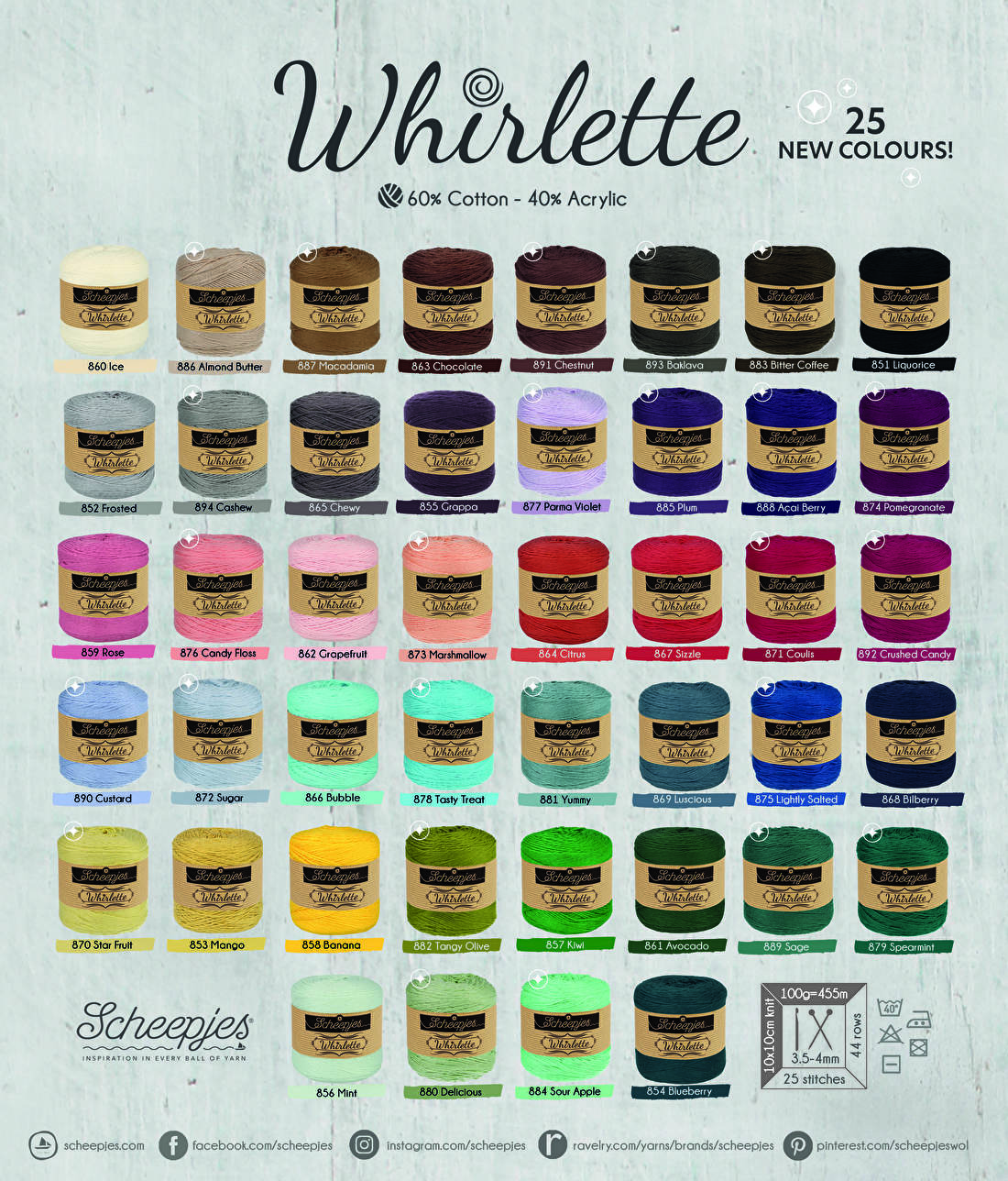 Whirlette all colours